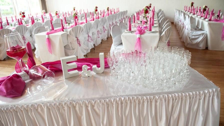 Tischdeko Hochzeit Pink