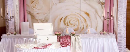 Hochzeit – Creme/Altrosa